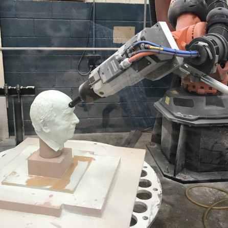 CREATION OF ALLEGORIC SCULPTURES WITH ROBOT