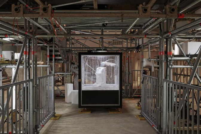 THREE-DIMENSIONAL SCULPTURES AT THE BURBERRY STORE ON LONDON'S REGENT STREET