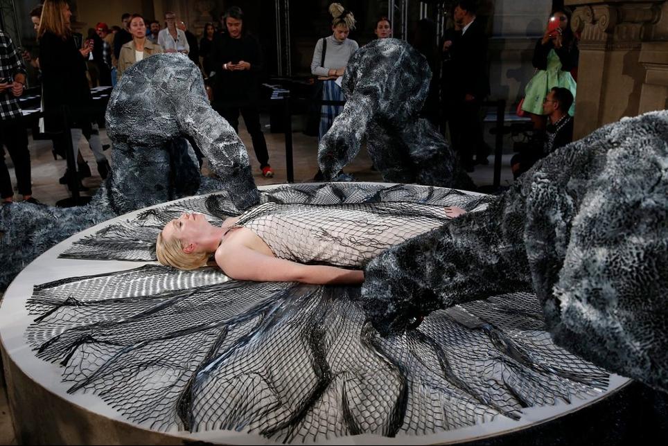 A 3D PRINTED DRESS BY IRIS VAN HERPEN