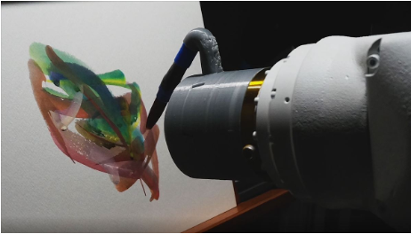 THE ROBOT THAT PAINTS LIKE A HUMAN