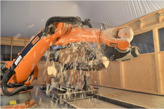 WITH THE INTRODUCTION OF A SPECIALIZED COURSE IN ROBOTIC CONSTRUCTION, THE AA SCHOOL OF LONDON JOINS THE TREND IN ROBOTIC CONSTRUCTION.